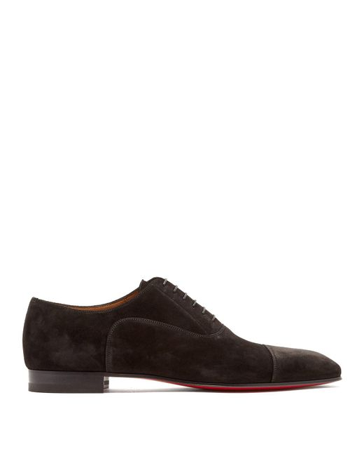 ce8230064d6 Christian Louboutin - Brown Greggo Suede Derby Shoes for Men - Lyst ...