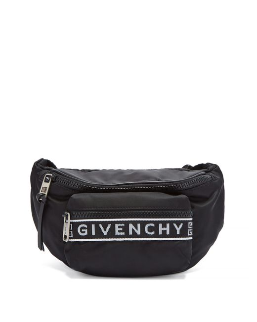 Givenchy - Black Sac ceinture en nylon à jacquard logo for Men - Lyst