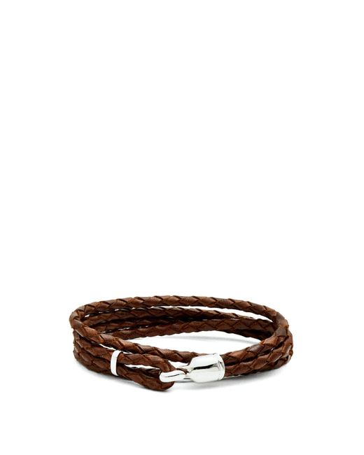 Miansai - Brown Trice Braided Leather Bracelet for Men - Lyst