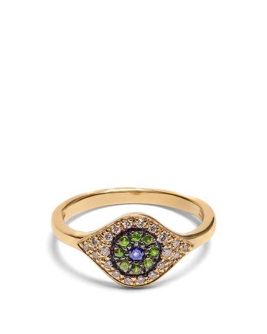 Ileana Makri - Metallic Diamond, Sapphire, Tsavorite & Yellow Gold Ring - Lyst
