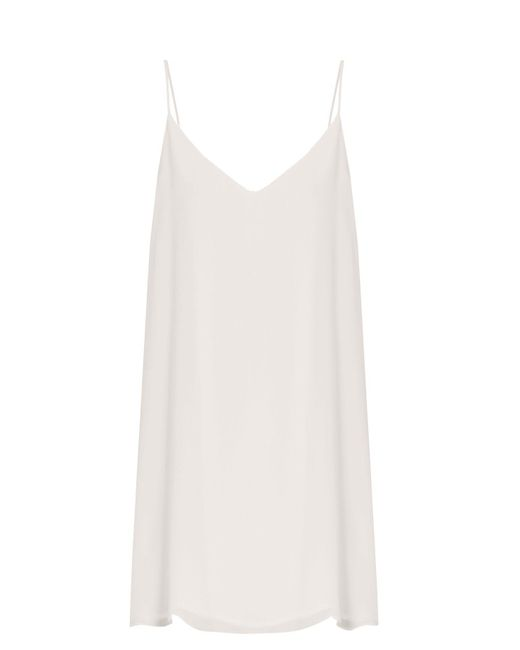 Raey - White Deep V Silk Slip Dress - Lyst
