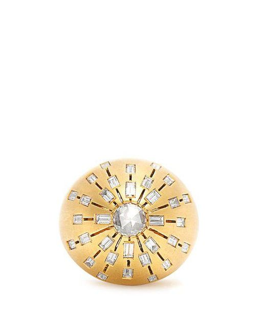 Susan Foster - Pink Diamond & Yellow-gold Ring - Lyst
