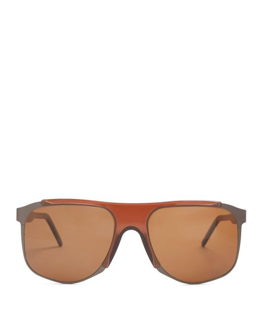 Andy Wolf - Brown Dimitri Square Frame Acetate Sunglasses for Men - Lyst