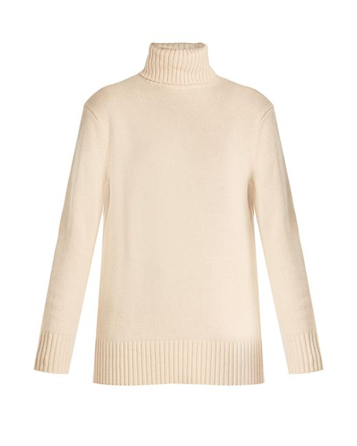 Chloé | Natural Iconic Roll-neck Cashmere Sweater | Lyst