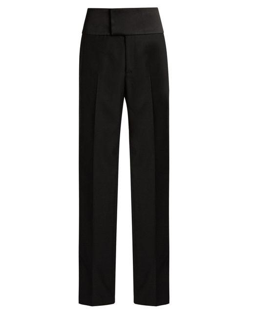 Balenciaga - Black Bachette Crepe Tuxedo Trousers - Lyst