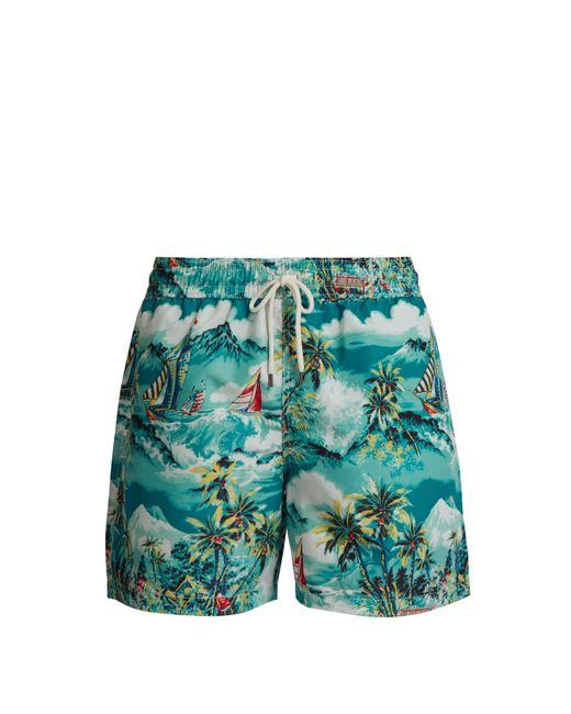 Polo Ralph Lauren - Blue Short de bain à imprimé Hawaii for Men - Lyst