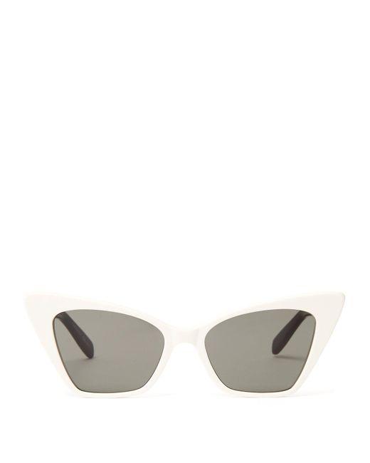 Saint Laurent - Multicolor Victoire Sharp Cat Eye Sunglasses - Lyst