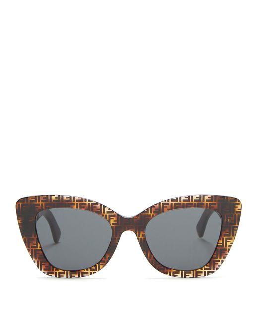 Fendi - Multicolor Ff Acetate Cat Eye Sunglasses - Lyst