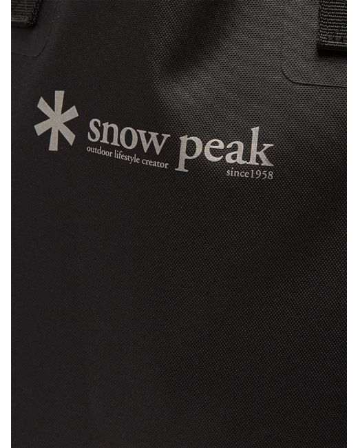 9545d2fa12ee ... Snow Peak - Black Logo Print Tote Bag for Men - Lyst