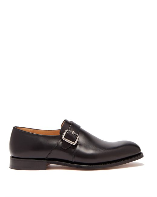 Church's Black Westbury Monk Strap Leather Shoes for men
