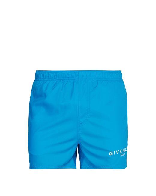 Short de bain à imprimé logo Givenchy pour homme en coloris Blue