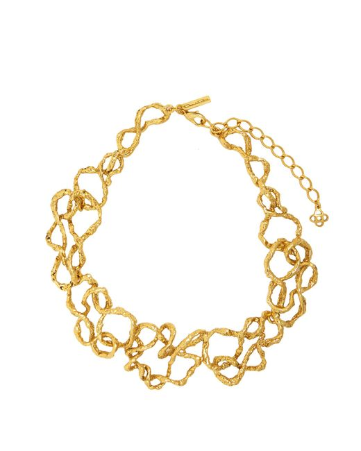 Oscar de la Renta | Metallic Entangled Chain Necklace | Lyst