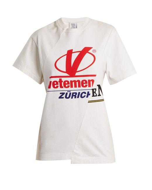 Vetements - White Zurich Reconstructed T Shirt - Lyst