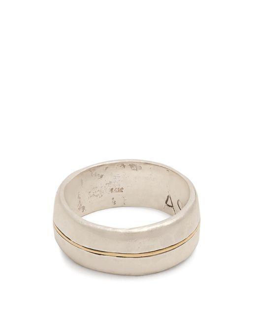 Aris Schwabe - Metallic Silver N Gold Sterling-silver Ring for Men - Lyst