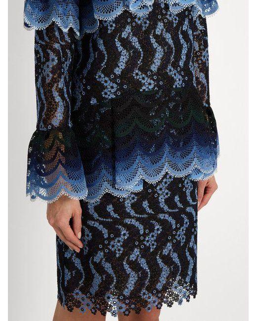 Lyndell scallop-edged guipure-lace dress Erdem 9TQMJywv
