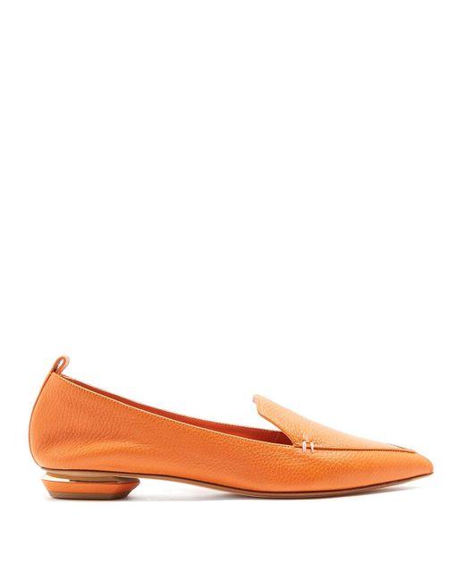 Nicholas Kirkwood - Orange Beya Grained Leather Loafers - Lyst