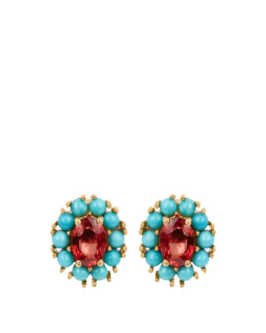 Ileana Makri - Multicolor Sapphire, Turquoise & Yellow-gold Earrings - Lyst