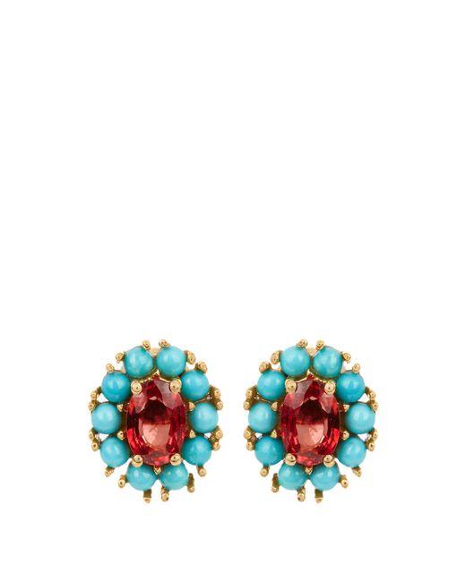 Ileana Makri | Multicolor Sapphire, Turquoise & Yellow-gold Earrings | Lyst
