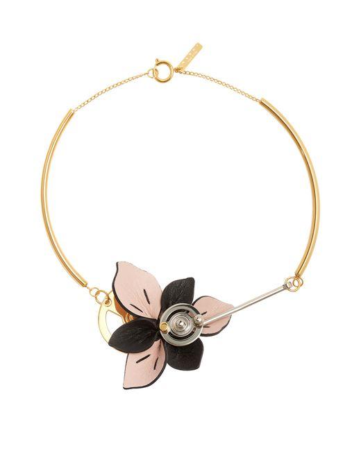 Marni - Multicolor Floral Leather-petal Necklace - Lyst