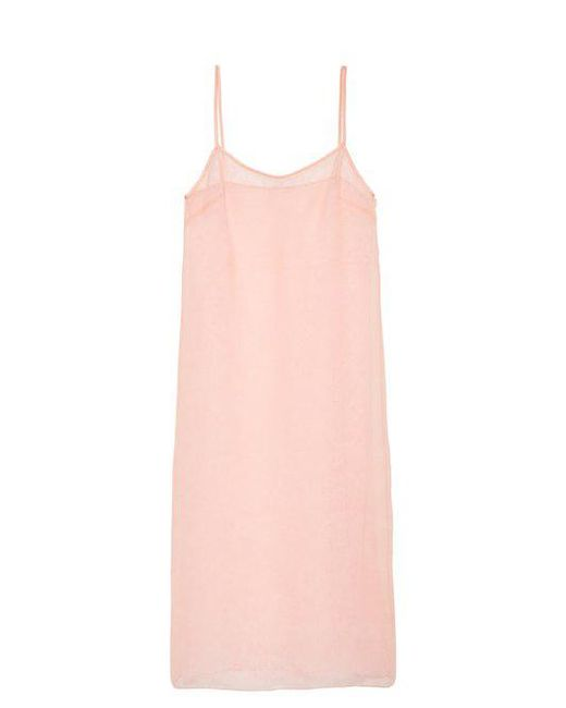 Rochas - Pink Lace And Silk-organza Cami Dress - Lyst