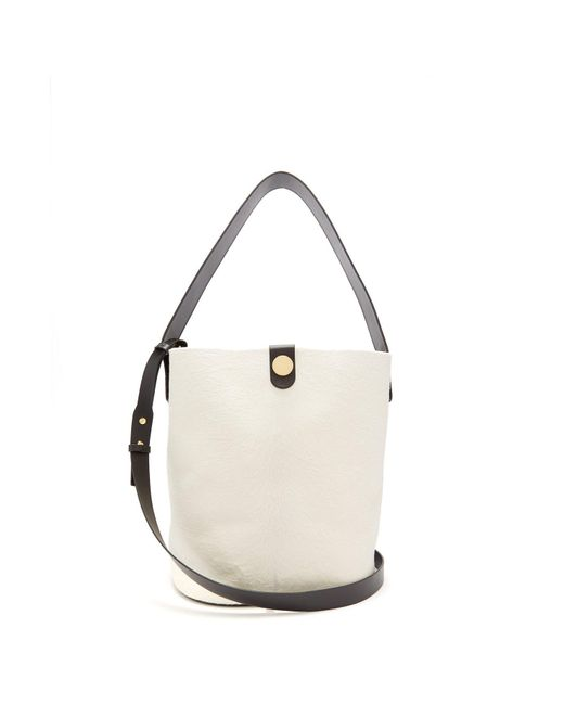 Sophie Hulme - White Swing Large Calf Hair Bag - Lyst