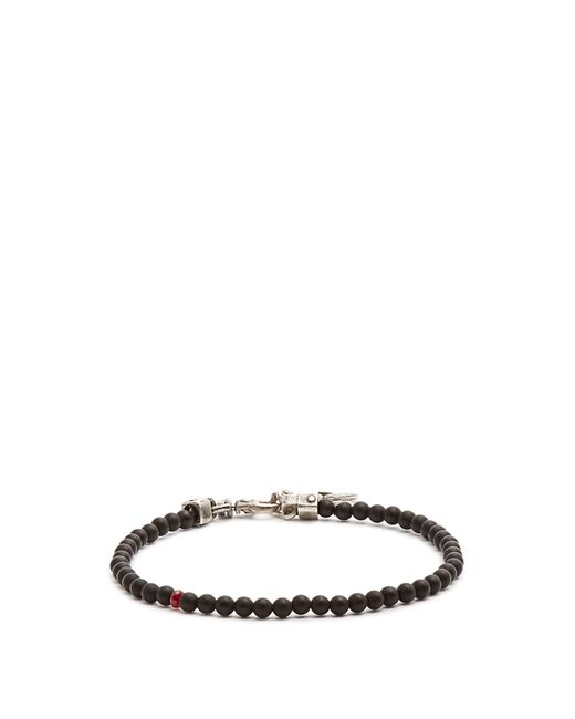 Title Of Work | Multicolor Beaded Onyx And Sterling-silver Bracelet for Men | Lyst