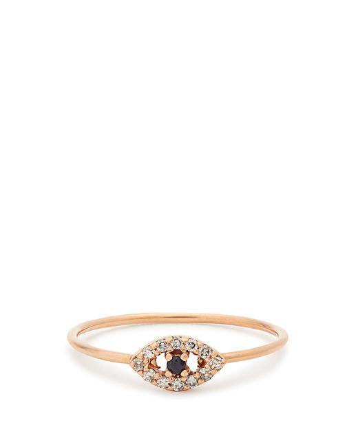 Ileana Makri   Metallic Diamond, Sapphire & Rose-gold Ring   Lyst