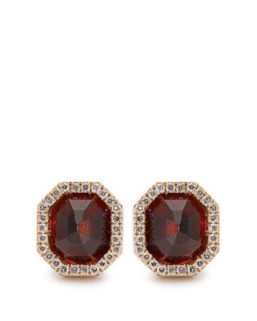 Monique Péan - Red Diamond, Garnet & White-gold Earrings - Lyst