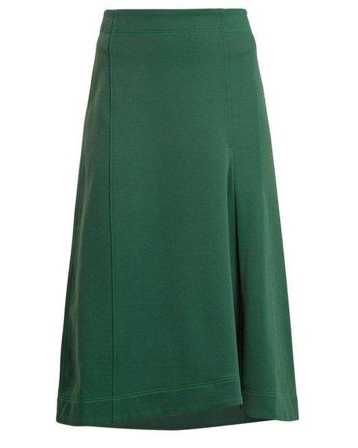 Tibi - Green Topstitched Knee-length A-line Skirt - Lyst