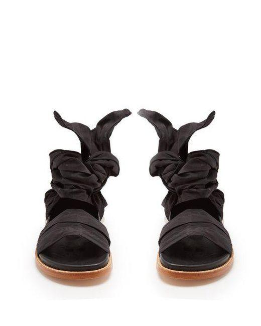 Checked-jacquard wrap sandals Marques Almeida gnVKlijS4