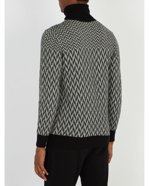 938be540 ... Givenchy - Black Graphic Cotton Sweater for Men - Lyst ...