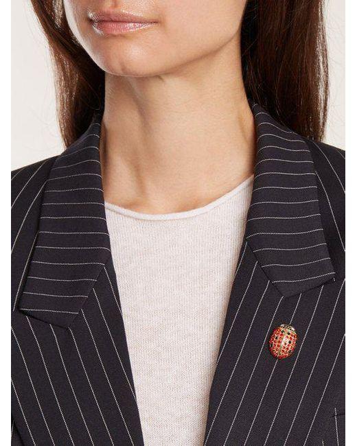 Sonia Rykiel Ladybird crystal-embellished pin brooch eQ4iMF31