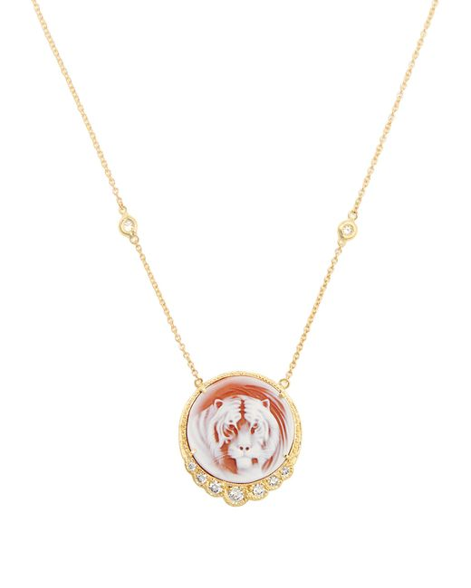 Jacquie Aiche | Pink Diamond & Yellow-gold Necklace | Lyst