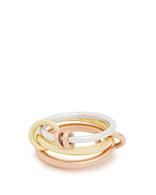 Spinelli Kilcollin - Metallic Raneth Silver, Yellow & Rose Gold Ring - Lyst