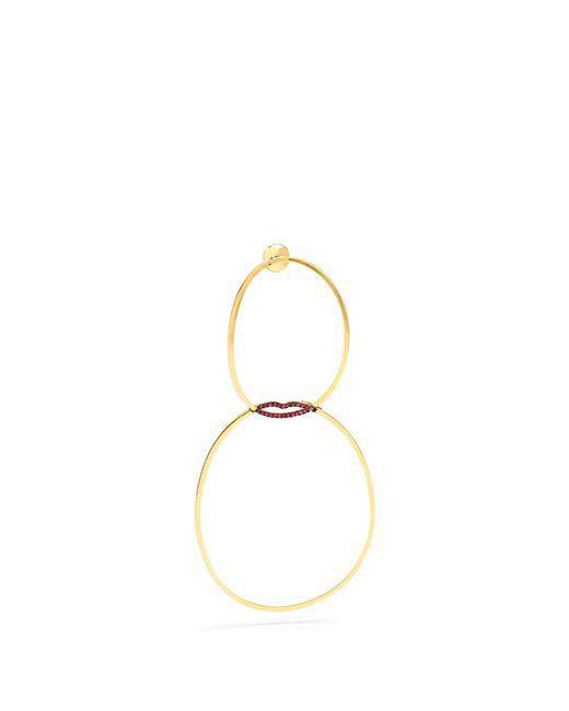 Delfina Delettrez - Metallic Ruby & Yellow Gold Single Earring - Lyst