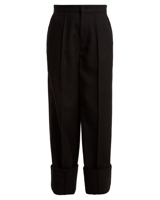 Joseph - Black Brem Wide Leg Wool Twill Trousers - Lyst