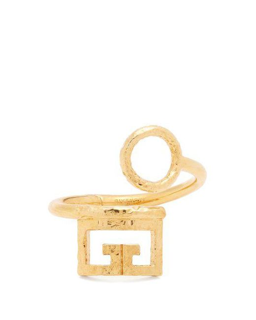 Givenchy - Metallic Logo And Circular Cut-out Cuff - Lyst