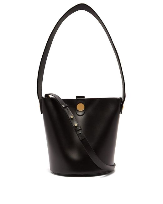 Sophie Hulme - Black Swing Leather Bucket Bag - Lyst