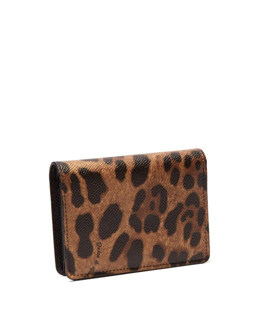 985b402a3ea3 ... Lyst Dolce & Gabbana - Multicolor Leopard Print Dauphine Leather Wallet  ...