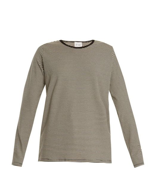 Eve Denim - Gray Alexa Striped Jersey T Shirt - Lyst