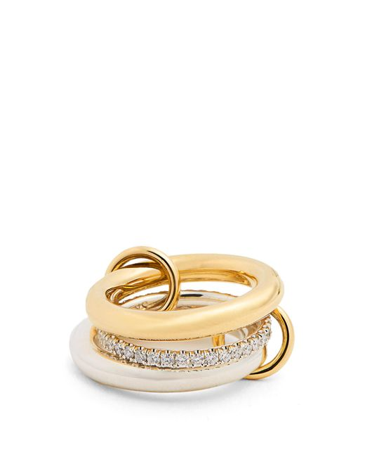 Spinelli Kilcollin   Metallic Libra Diamond, Silver & Yellow-gold Ring   Lyst