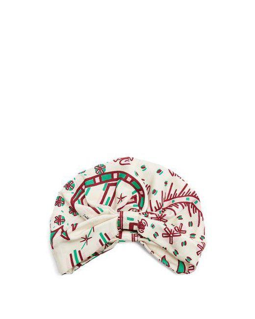 Valentino - Multicolor Abstract-print Silk-twill Turban Hat - Lyst