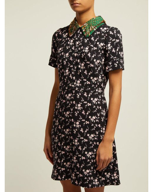 e16067dbbdd2 ... N°21 - Black Stampa Floral Print Dress - Lyst ...