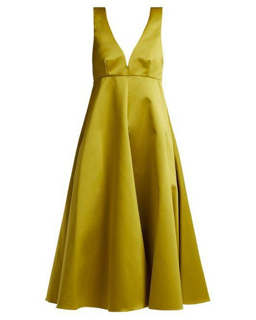 Duchess-satin midi dress Rochas z4bLuIfs