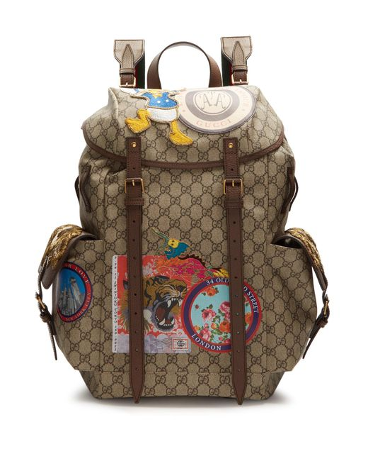 d716805d43b8b Gucci Mesh Embroidered Backpacks