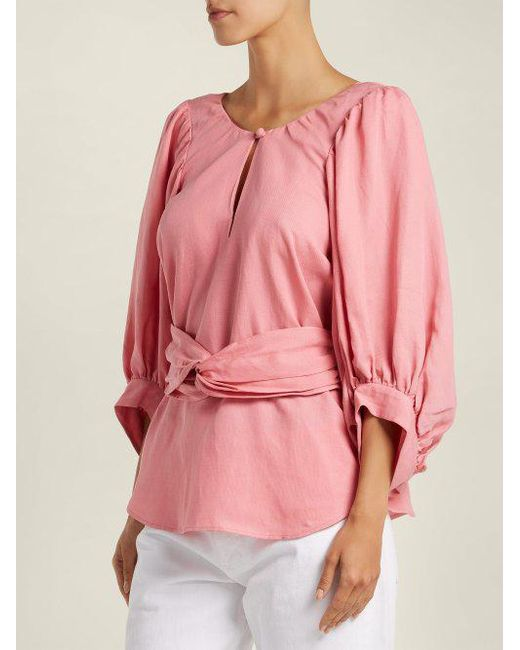 Buy Cheap Sast Quality Free Shipping Low Price Volya linen-blend balloon-sleeve top Apiece Apart Best Deals Hot Sale Buy Cheap Footaction Vbkmz3AnTE
