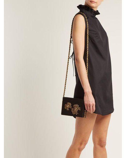 Discount Manchester Netti ruffle-trimmed high-neck dress Cecilie Bahnsen Ebay Cheap Price Cheap Great Deals Visit 3Unhrt0j