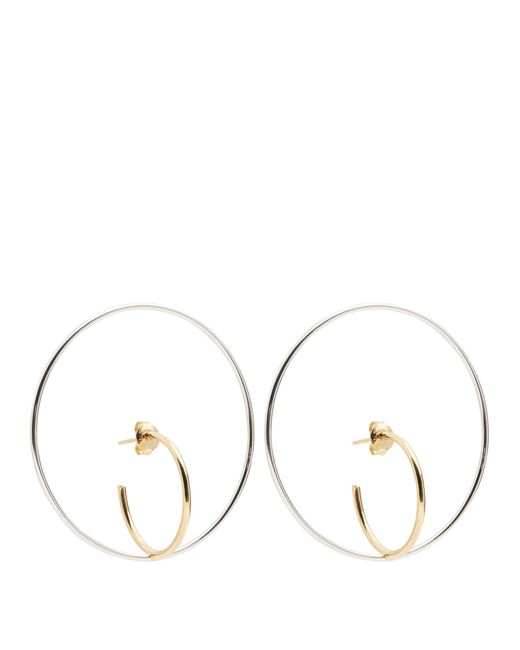 Charlotte Chesnais | Metallic Saturn Large Silver And Gold-plated Earrings | Lyst