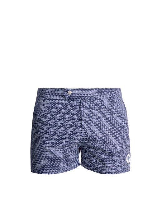 Robinson Les Bains - Blue Ucla Geometric Print Swim Shorts for Men - Lyst
