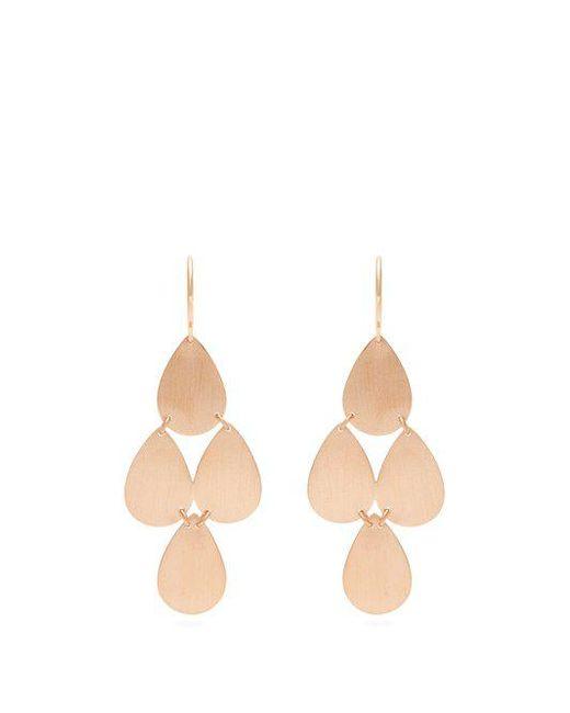 Irene Neuwirth - Metallic Rose-gold Chandelier Earrings - Lyst